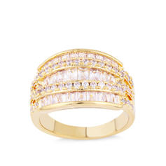 Unique Brass Zircon With Zircon Women's Fashion Rings