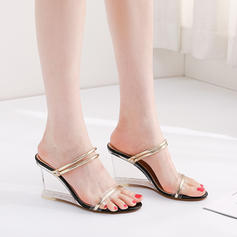 Women's PU Wedge Heel Sandals Wedges Peep Toe Slingbacks Slippers With Others shoes