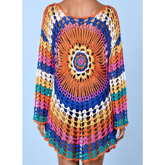 Floral U-Neck Bohemian Cover-ups Swimsuits