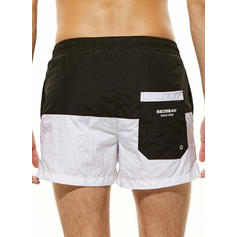 Men's Splice color Swim Trunks Swimsuit