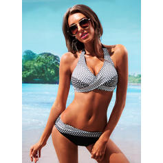 Dot Halter Sexy Bikinis Swimsuits