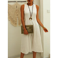 Solid Sleeveless Jumpsuits Party/Elegant Midi Dresses