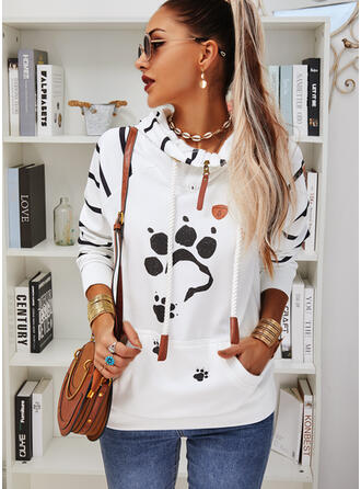 Motif Animal Striped Manches longues Capuche