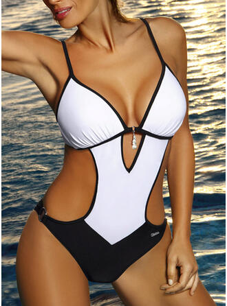 Monokini Patchwork Strap Fashionable Classic One-piece Swimsuits