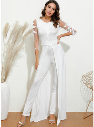 Lace/Solid 3/4 Sleeves Party/Elegant Jumpsuits Dresses