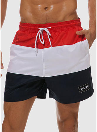 Men's Stripe Swim Trunks Swimsuit