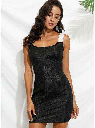 Sequins Sleeveless Bodycon Above Knee Sexy/Party Dresses