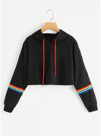 Polyester Striped Hoodie