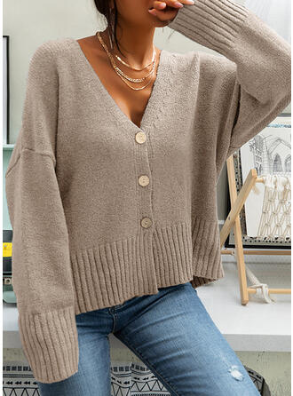 Knit Long Sleeves Solid